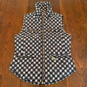 Michael Kors houndstooth puffer vest